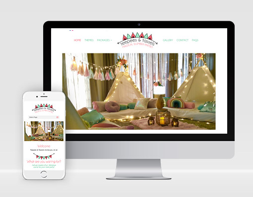 Ethical branding and website design theme website option image